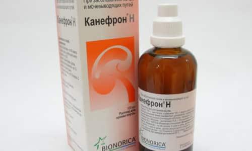 Применяются и растительные средства, например, Канефрон. Они действуют мягко, не содержат химических компонентов